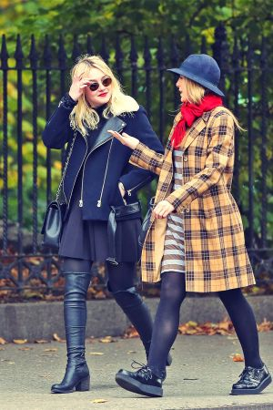 Dakota Fanning seen out and about with her female friends