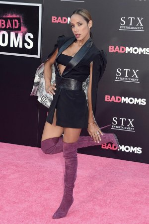 Dania Ramirez attends Bad Moms premiere