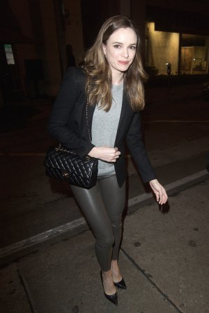 Danielle Panabaker is seen leaving Craig's