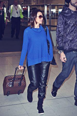 Dannii Minogue at Sydney airport