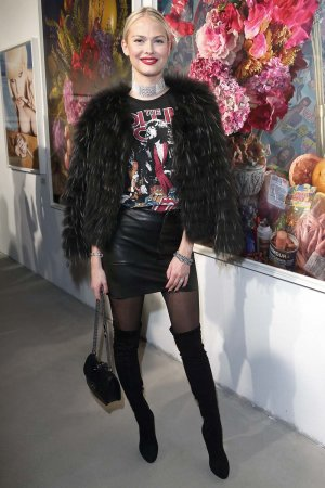 Darya Strelnikova attends the Photoscapes exhibition opening