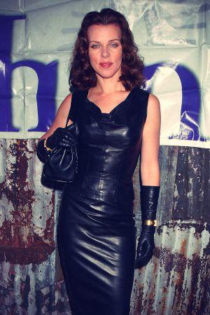 Debi Mazar dressed in Sexy Black Leather