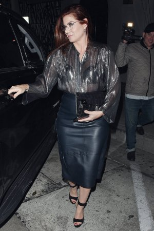 Debra Messing leaves LA hot spot Craig's