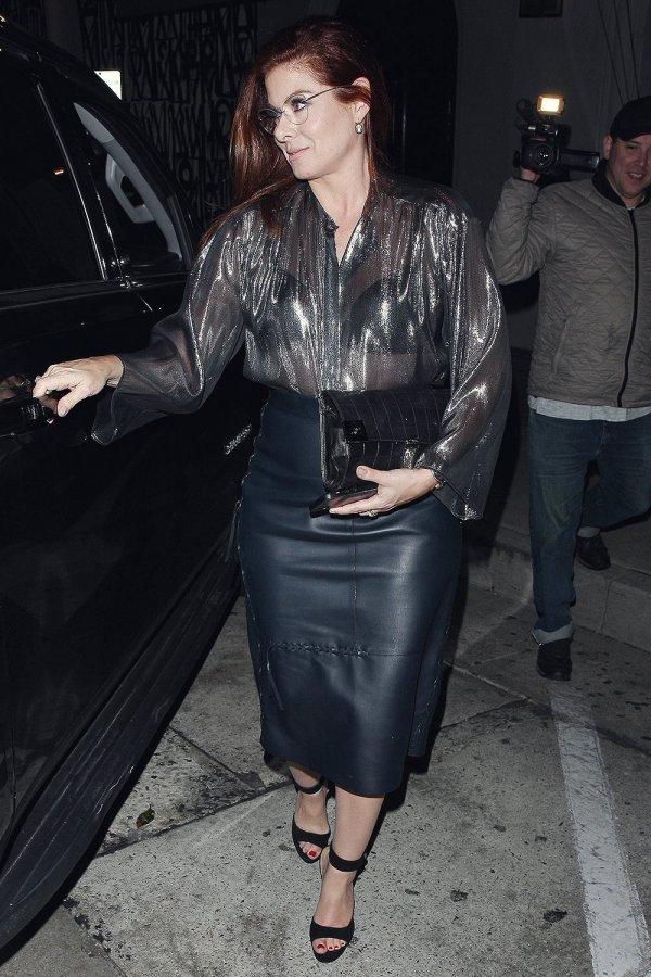 Debra Messing leaves LA hot spot Craig's