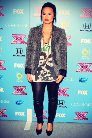 Demi Lovato at X Factor Top 12 Party