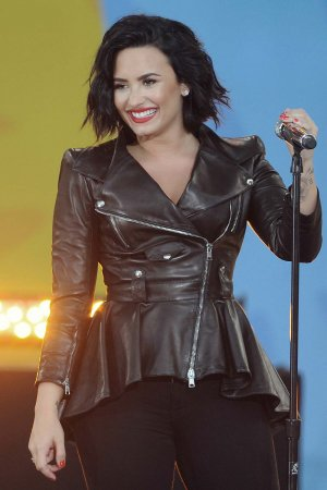 Demi Lovato attends GMA Summer Concert Series