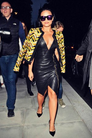 Demi Lovato out and about candids in London