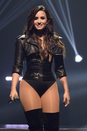 Demi Lovato performing in San Jose