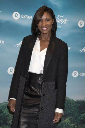 Denise Lewis attends the blue carpet of the Cirque du Soleil press night