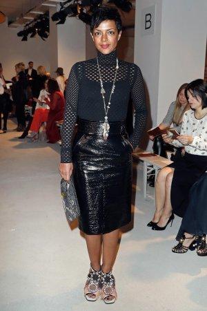 Dennenesch Zoude attends the Mercedes-Benz Fashion Week Berlin