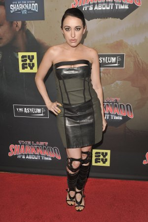 Devanny Pinn attends The Last Sharknado It's About Time film premiere