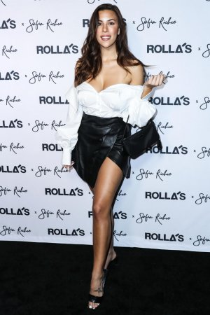 Devin Brugman attends Rolla's x Sofia Richie Collection Launch
