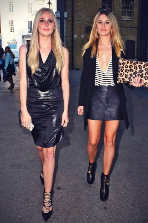 Diana Vickers & her friend attend Bespoke Fashion Show