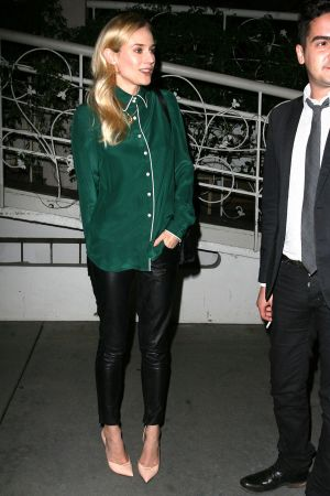 Diane Kruger dines with a mystery man at Madeo in West Hollywood
