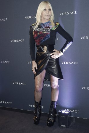 Donatella Versace attends Versace Cocktail