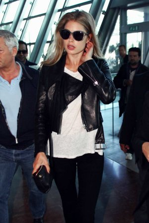Doutzen Kroes is seen at Nice airport