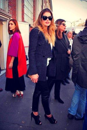 Doutzen Kroes leave the Fendi Fashion Show
