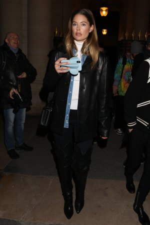 Doutzen Kroes leaving the Isabel Marant show