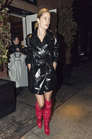 Doutzen Kroes seen in red boots
