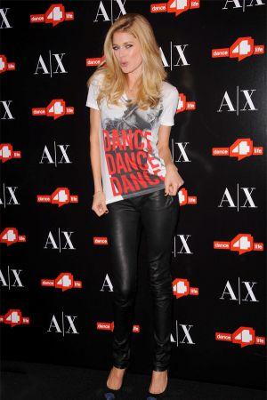 Doutzen Kroes unveils The A|X Armani Exchange Dance4life T-Shirt