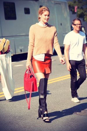 Doutzen Kroes working on a photo shoot in NYC