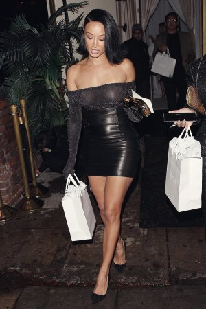 Draya Michele leaves the Delilah restaurant