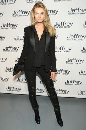 Edita Vilkeviciute at Jeffrey Fashion Cares 2012 in New York City