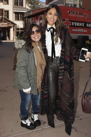 Eiza Gonzalez meets the fans while out on Main Street