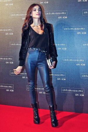 Elisa Sednaoui attends Intimissimi On Ice 2015