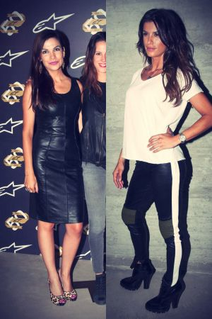 Elisabetta Canalis & Denise Focil attend the Alpinestars 50th Anniversary