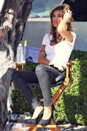 Elisabetta Canalis On The Set Of Photo Shoot