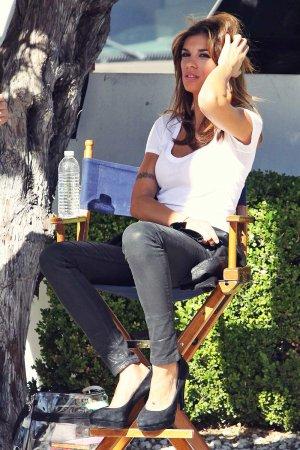 Elisabetta Canalis On The Set Of Photo Shoot