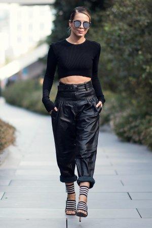 Eliz Sakucoglu arrives for Mercedes-Benz Fashion Week Istanbul
