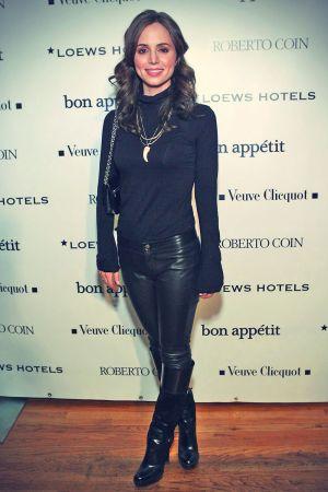 Eliza Dushku leather mix