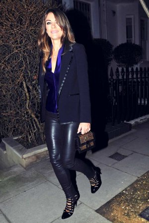 Elizabeth Hurley at The Ivy Kensington Brasserie