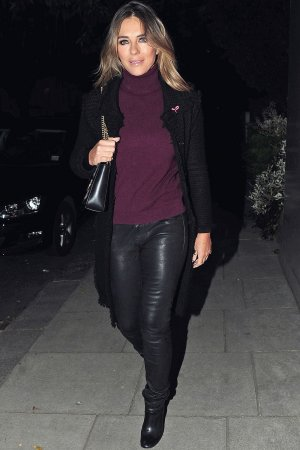 Elizabeth Hurley out in London