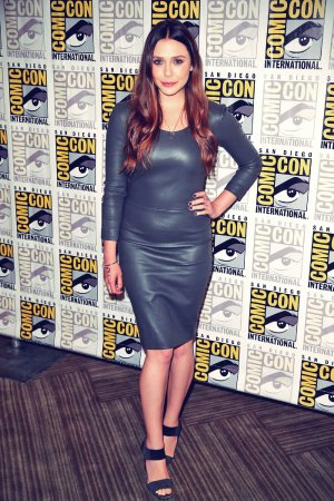 Elizabeth Olsen attends Avengers Age of Ultron Press Line at Comic-Con