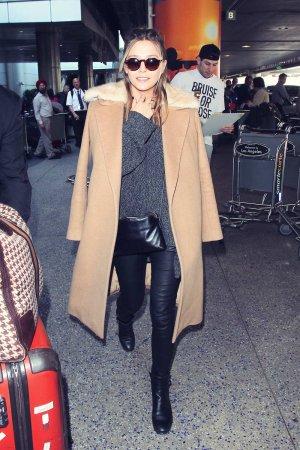 Elizabeth Olsen is seen at LAX