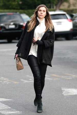 Elizabeth Olsen out in LA