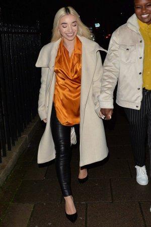 Ella Baig seen at dinner in Mayfair