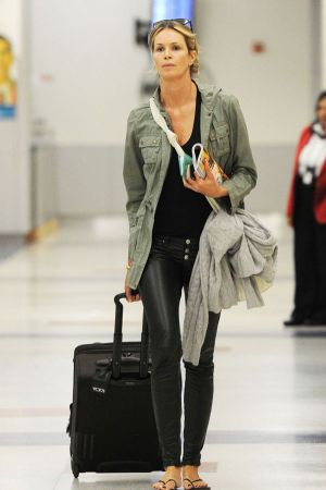 Elle Macpherson  At JFK airport in NY