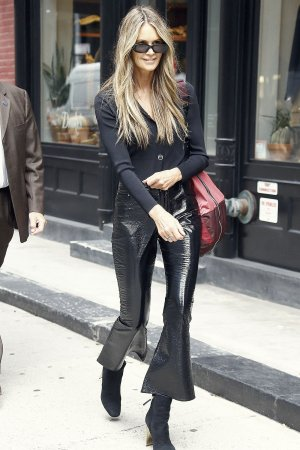 Elle Macpherson going to her store Welleco on it's opening day