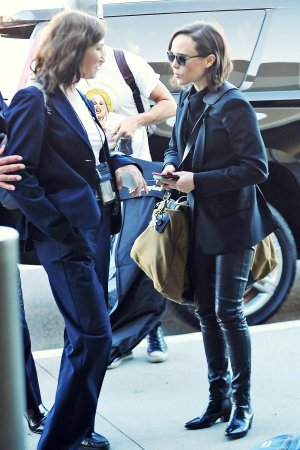 Ellen Page catching a flight to San Francisco