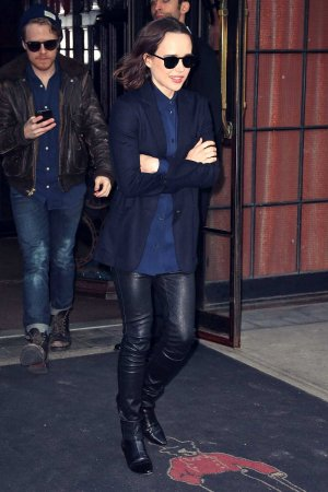 Ellen Page is spotted outside The Bowery Hotel