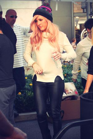 Ellie Goulding appearing on Extra at The Grove
