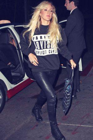 Ellie Goulding arriving at Chateau Marmont in LA