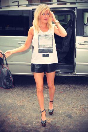 Ellie Goulding arriving at the BBC Radio 1 studios