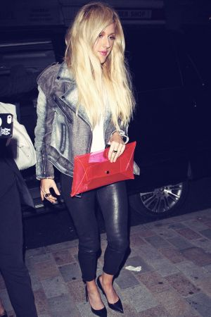 Ellie Goulding arriving at the Chiltern Firehouse hotel