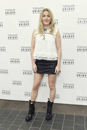 Ellie Goulding attends the Topshop Unique show