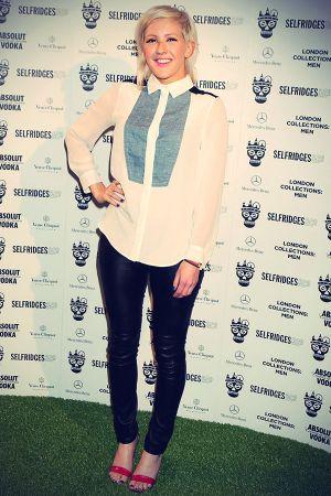 Ellie Goulding is seen attending Tinie Tempah
